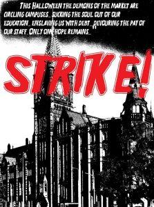 Support the UK universities Halloween Strike