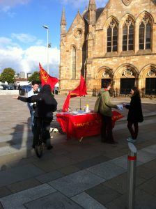Ryan Boyle reports on standing for the YCL and CP in the recent Govan By-election