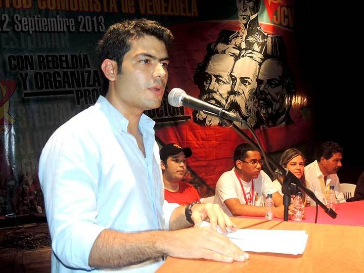General Secretary of the Communist Youth of Venezuela, Hector Rodriguez