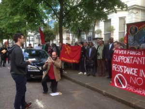 YCL Emergency Protest at Ukrainian Embassy