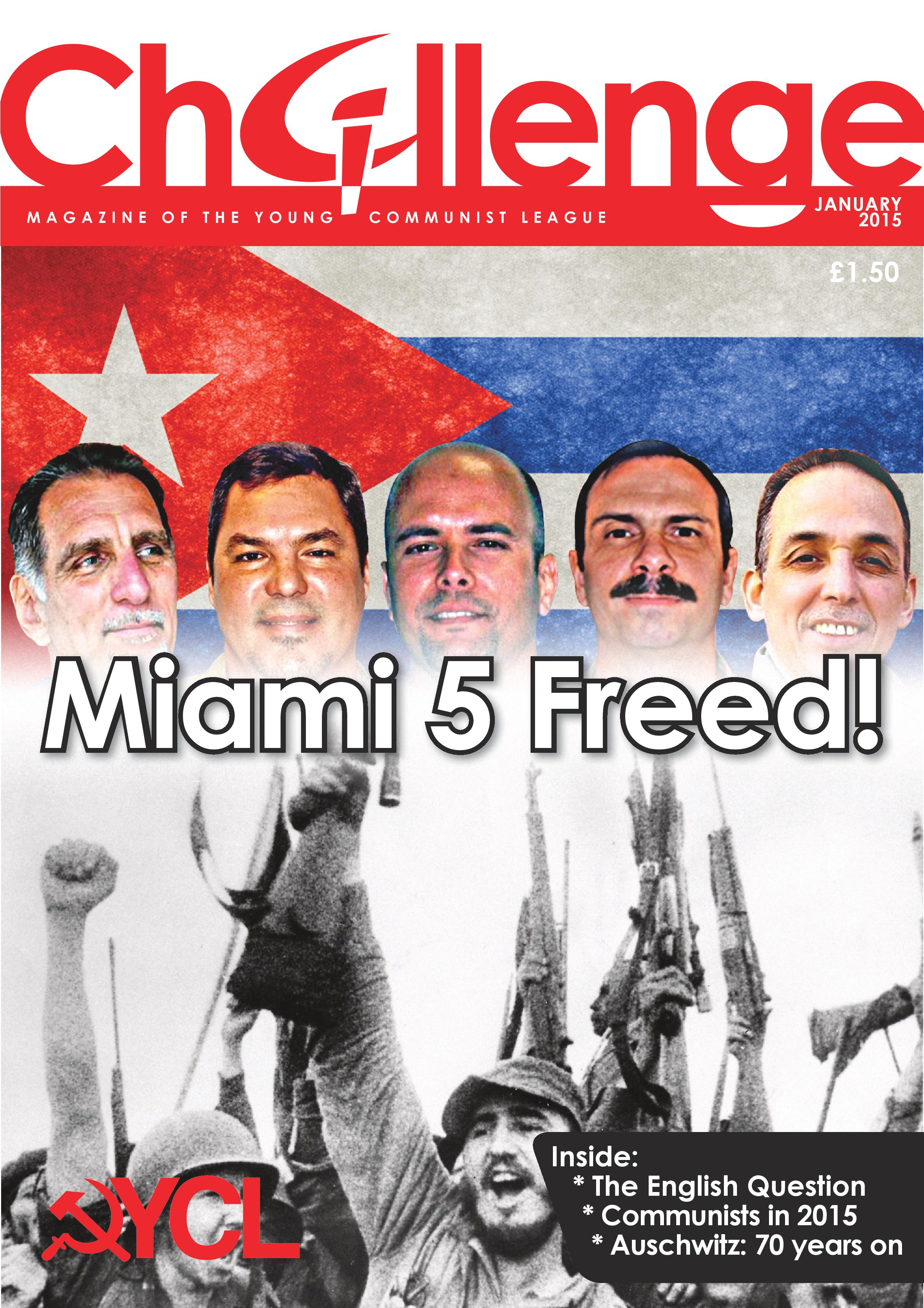 Front Cover: Celebrating the release of the Miami 5!