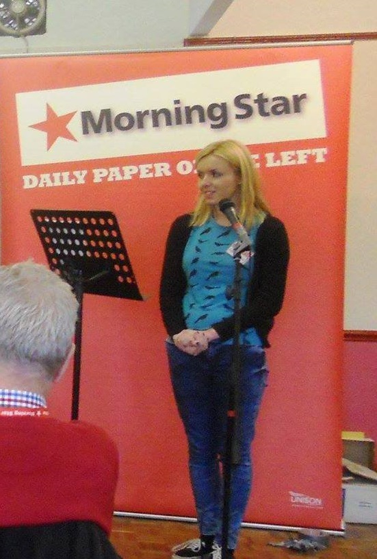 Zoe Hennessy is General Secretary of the YCL and is standing in Glasgow North West