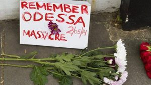 First anniversary rally for the victims of the May 2, Odessa attack