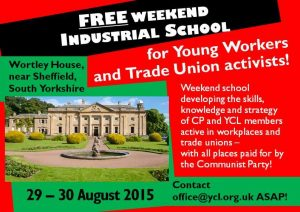 Young Workers & Trade Union Activists Weekend School – 29th & 30th August