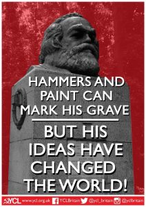 YCL Statement in response to Vandalism of Marx's Grave
