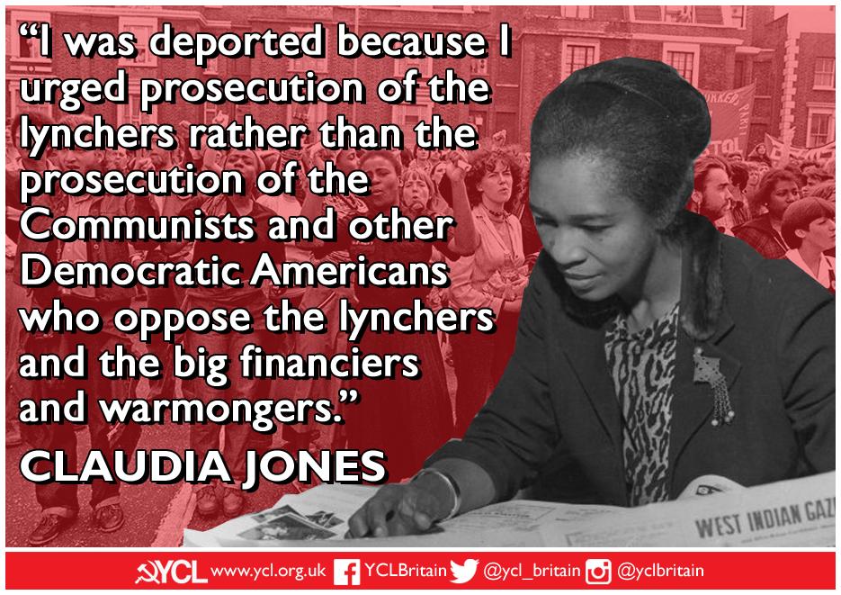 YCL Claudia Jones IWD 2019 poster 1